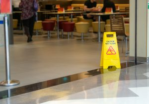 Do Hazard Floor Signs Absolve The Store Owner Of Any Slip And Fall Liability?